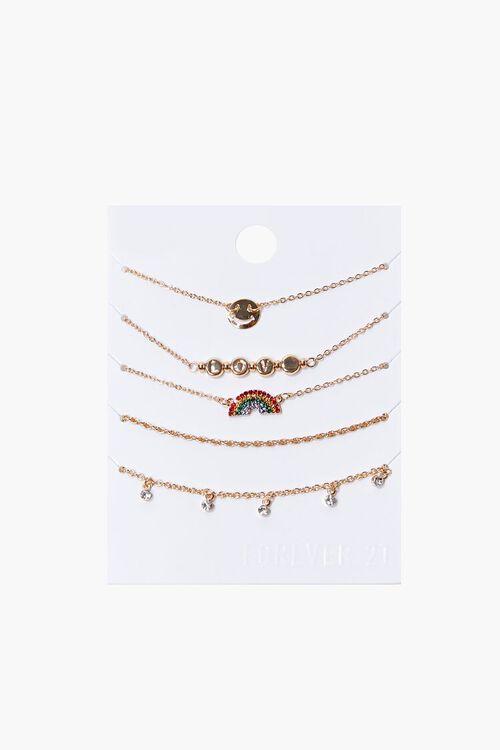 Rainbow Charm Bracelet Set, image 1