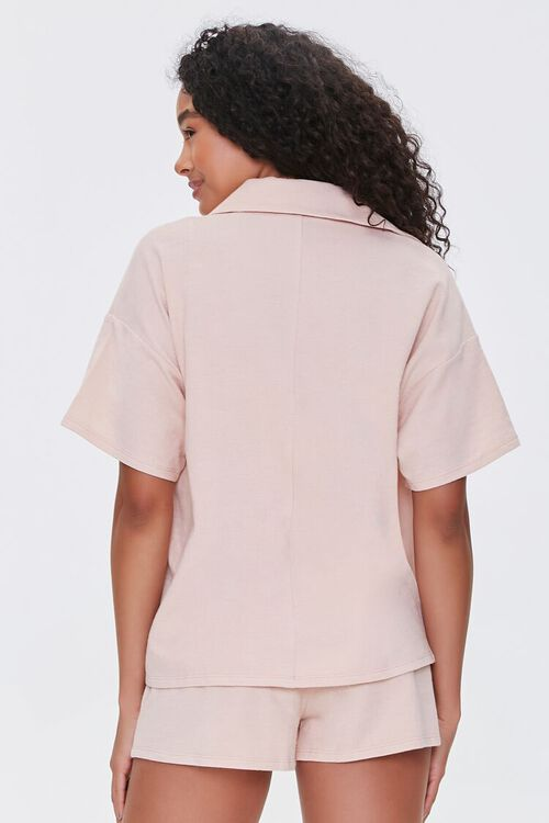 Terry Cloth Shirt Cami & Shorts Set, image 3