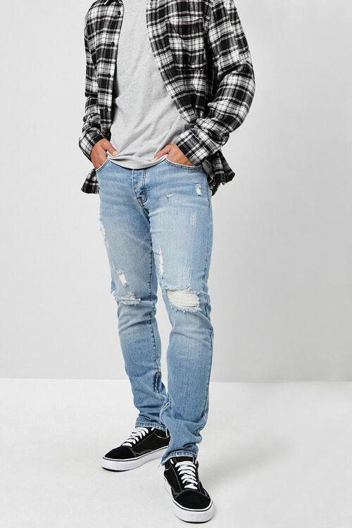 Distressed Ankle-Zip Skinny Jeans, image 5