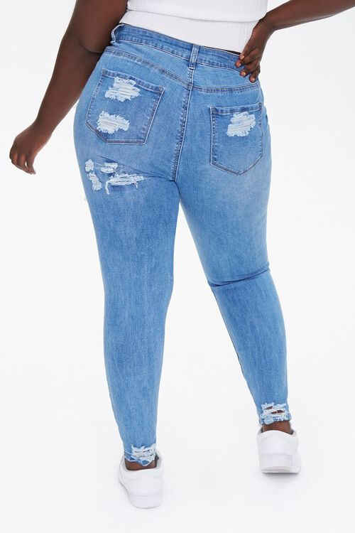 Plus Size Distressed Ankle Jeans, image 4