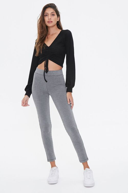 Ruched Drawstring Crop Top, image 4