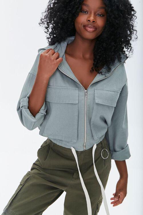 Hooded Zip-Up Jacket, image 1