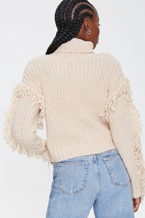 Loop-Knit Trim Turtleneck Sweater, image 3