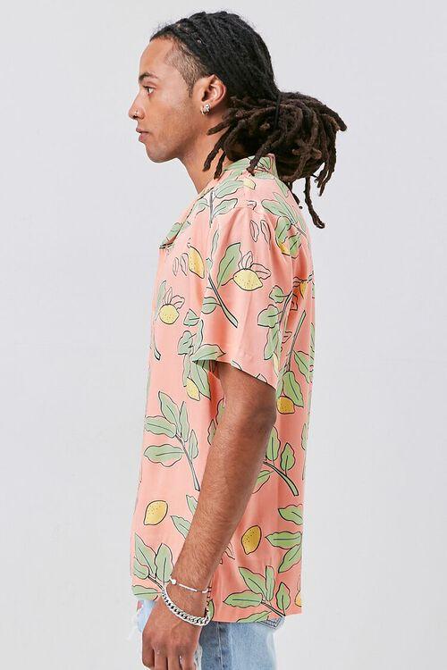 Classic Fit Lemon Print Shirt, image 2