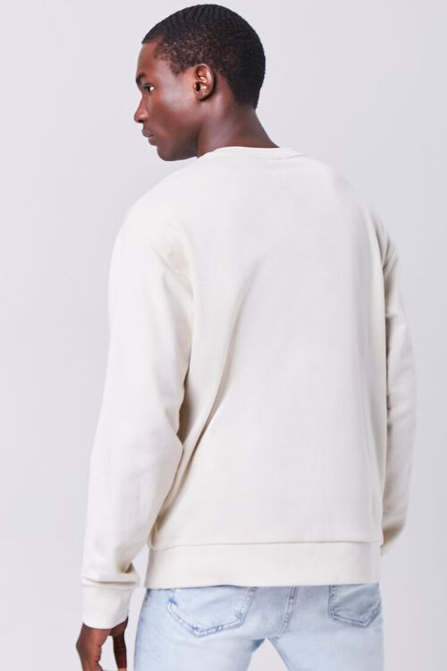 CREAM/YELLOW Take It Easy Embroidered Graphic Pullover, image 3