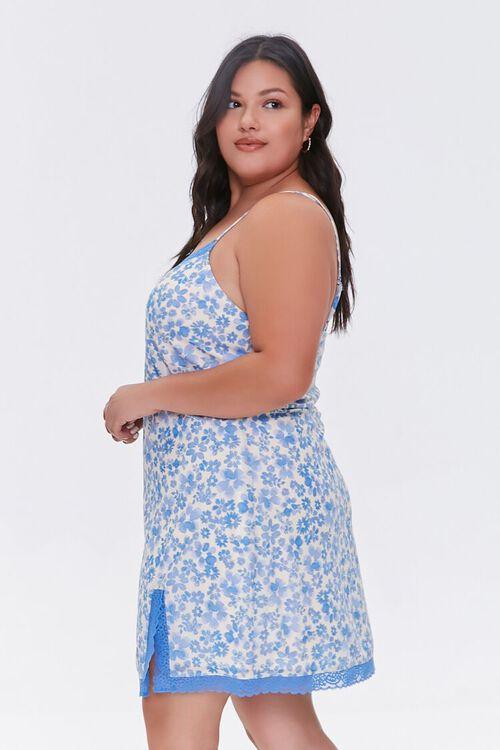 Plus Size Floral Mini Cami Dress, image 2
