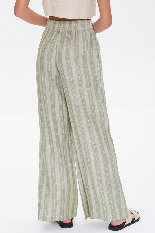 Striped Linen-Blend Pants, image 4