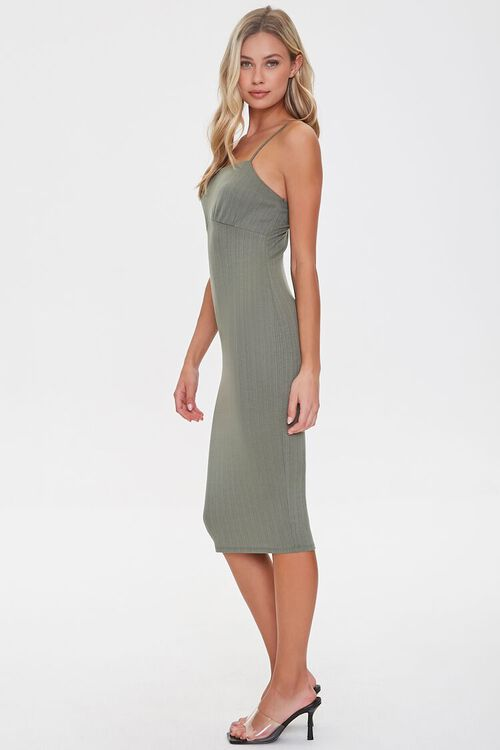 Ribbed Knit Bodycon Dress, image 2