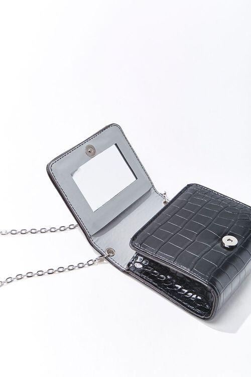 Mini Faux Croc Leather Crossbody Bag, image 3