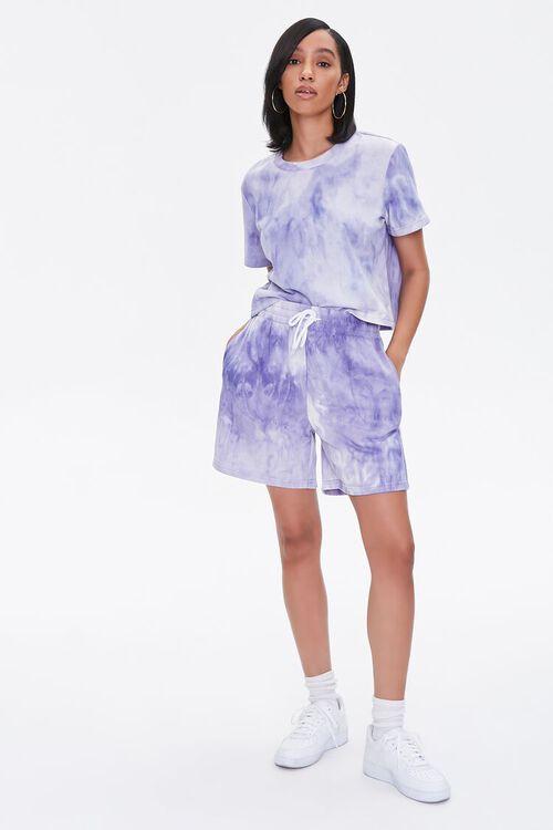 LAVENDER/CREAM Tie-Dye Tee & Shorts Set, image 4