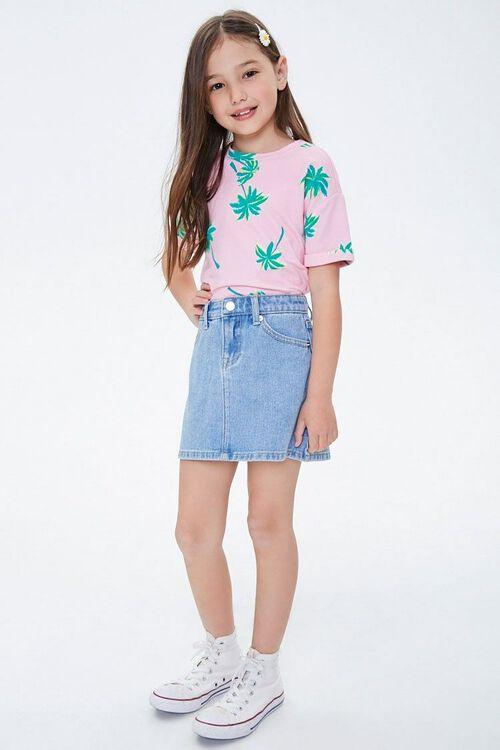 Girls Denim A-Line Skirt (Kids), image 5
