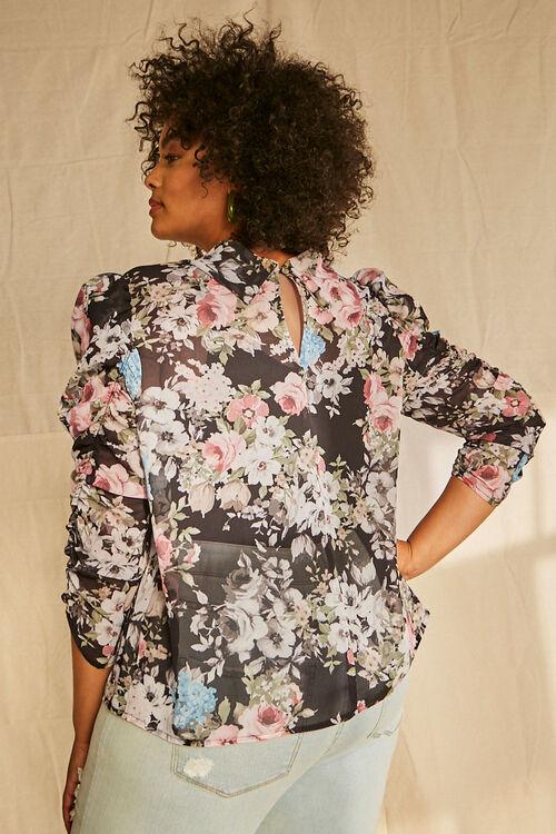 Plus Size Floral Chiffon Top, image 3