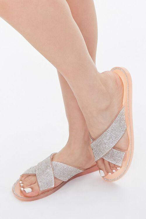 Rhinestone Crisscross Sandals, image 1