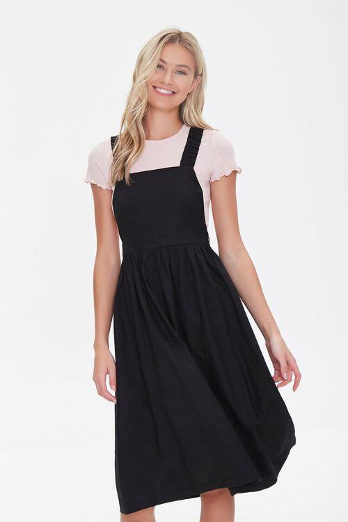 Linen-Blend Pinafore Dress, image 1