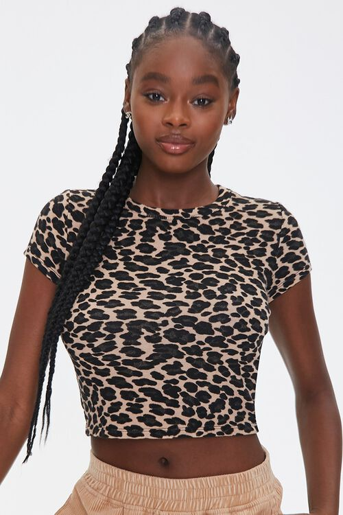 Leopard Print Cropped Tee, image 5