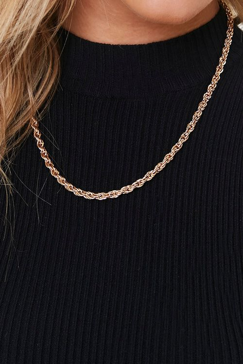 GOLD Twisted Chain Necklace, image 1