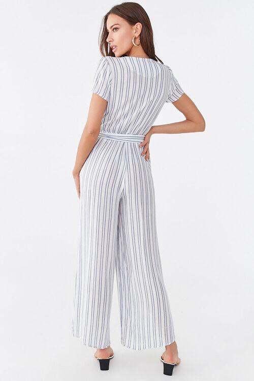 Striped Surplice Jumpsuit, image 3