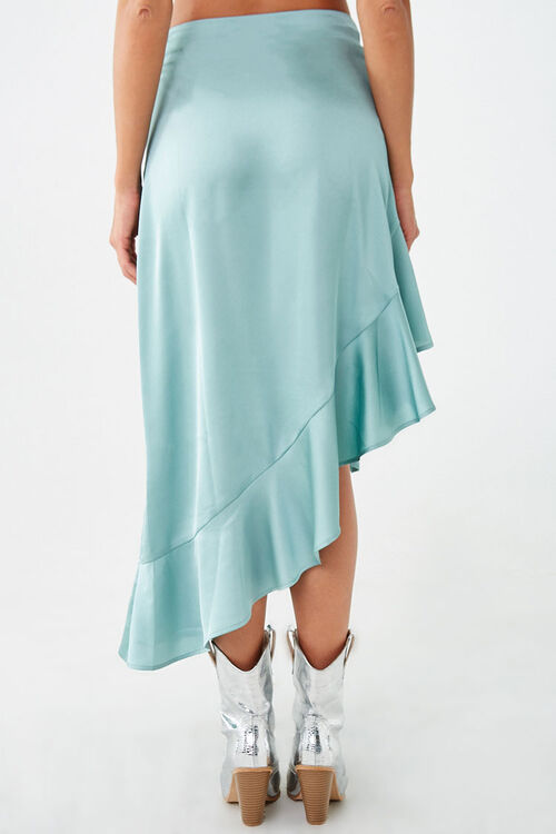 Satin Ruffled High-Low Skirt, image 4