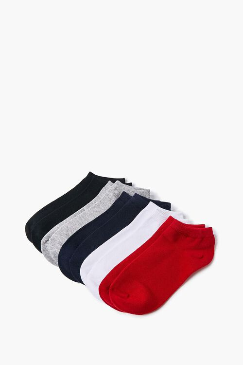 RED/NAVY Assorted Ankle Socks - 5 Pack, image 2
