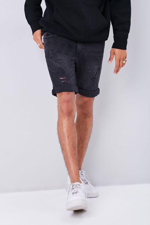 Distressed Acid Wash Shorts, image 2