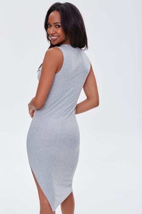 Heathered Sleeveless Bodycon Dress, image 3