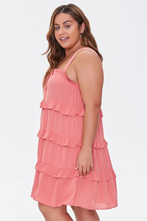 Plus Size Sleeveless Tiered Mini Dress, image 2