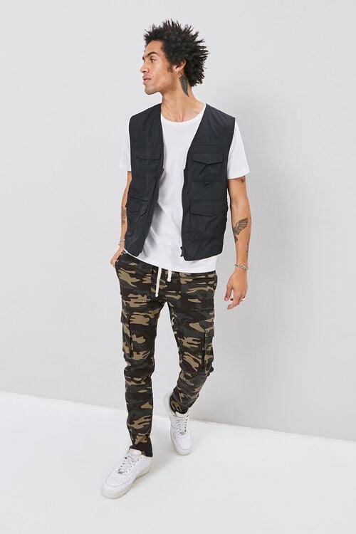 Camo Print Cargo Pants, image 1