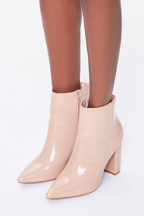 Pointed Toe Block Heel Booties, image 1