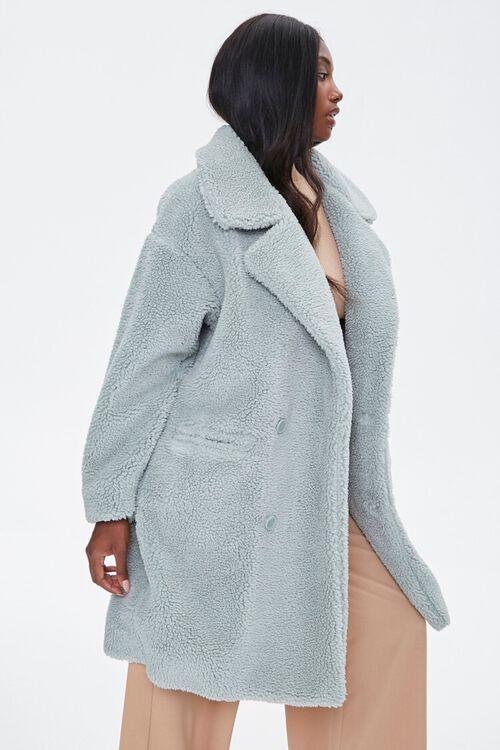 Faux Shearling Longline Coat, image 2