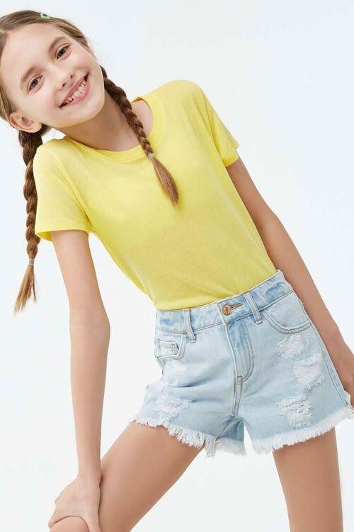 Girls Distressed Denim Shorts (Kids), image 1