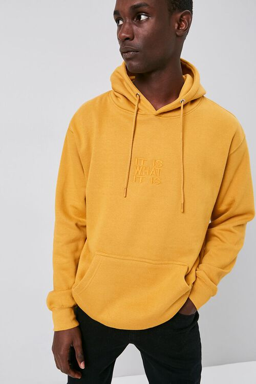 It Is What It Is Embroidered Graphic Hoodie, image 1