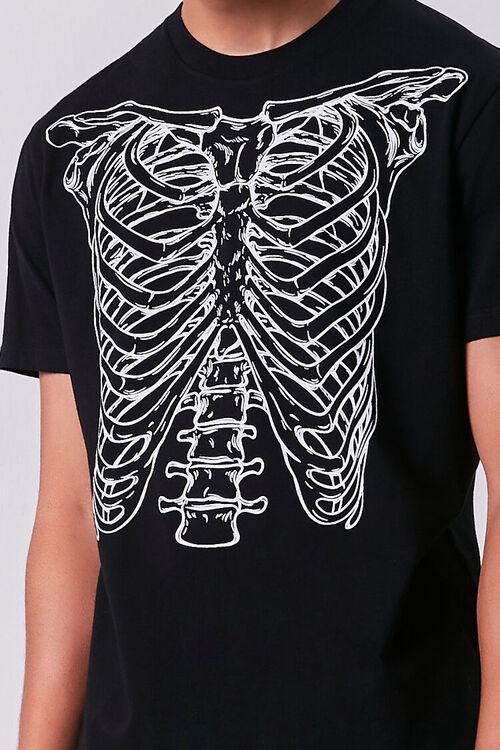BLACK/WHITE Skeleton Graphic Short-Sleeve Tee, image 5