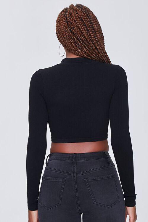 BLACK Zip-Up Crop Top, image 3