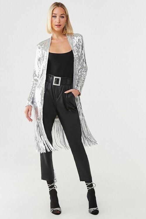 Sequin Fringe Wrap Coat, image 4