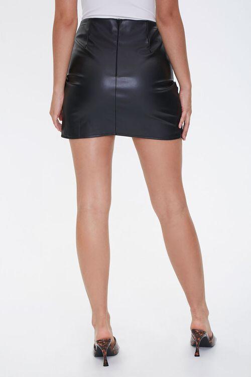 Faux Leather Tulip-Hem Skirt, image 3