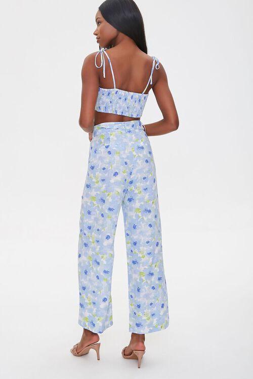 BLUE/MULTI Floral Cropped Cami & Pants Set, image 3