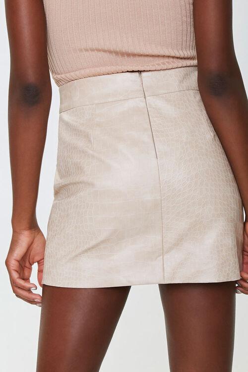 Faux Croc Mini Skirt, image 3