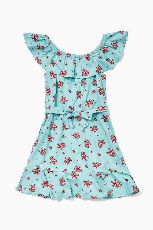 Girls Floral Off-the-Shoulder Dress (Kids), image 1