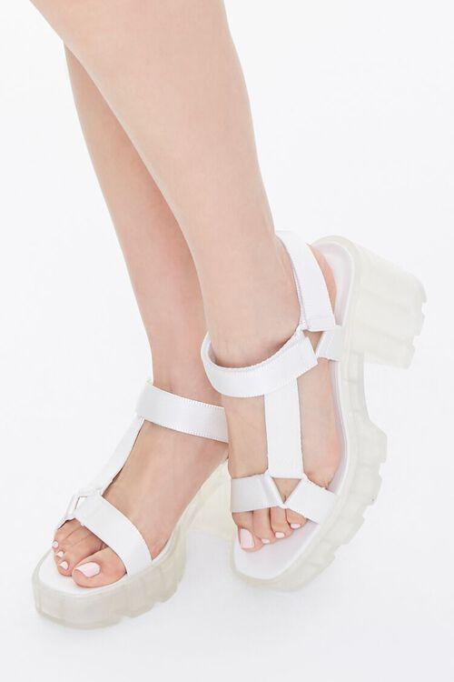 Semi-Transparent Platform Block Heels, image 1