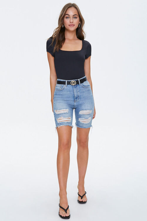 Square-Neck Short Sleeve Top, image 4