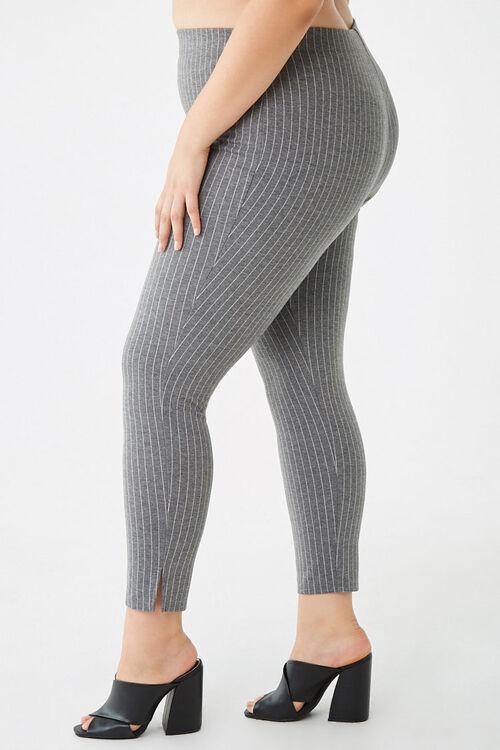 Plus Size Pinstriped Leggings, image 3