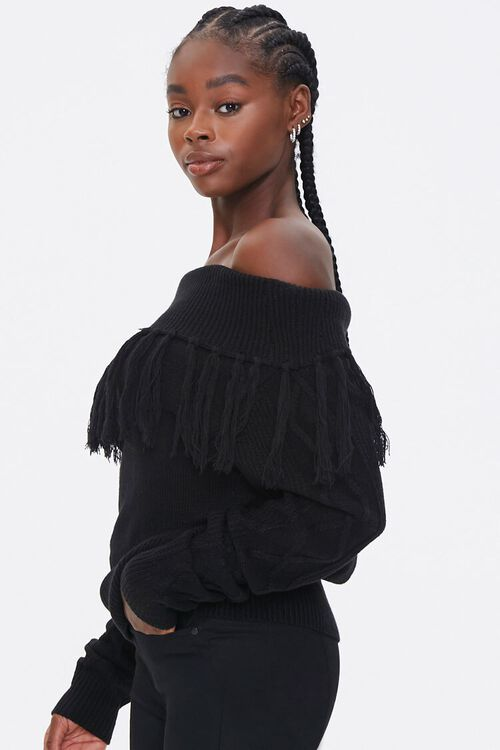 Tassel Off-the-Shoulder Sweater, image 2