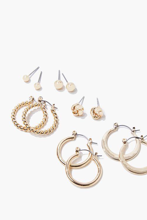 Upcycled Hoop & Stud Earring Set, image 2