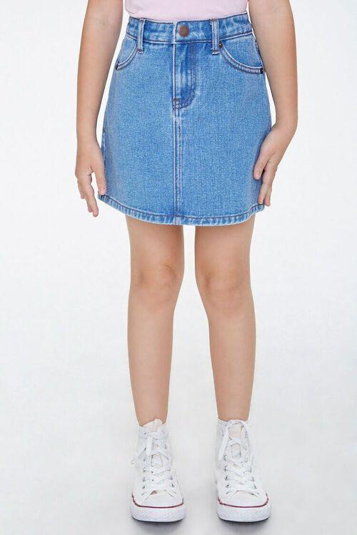 Girls Denim A-Line Skirt (Kids), image 2