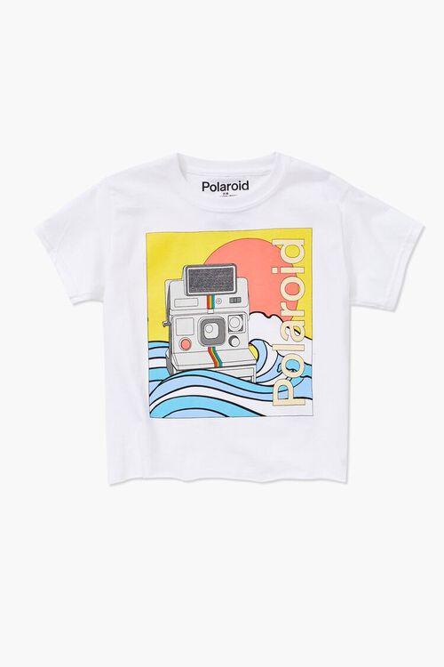 WHITE/MULTI Girls Polaroid Graphic Tee (Kids), image 1