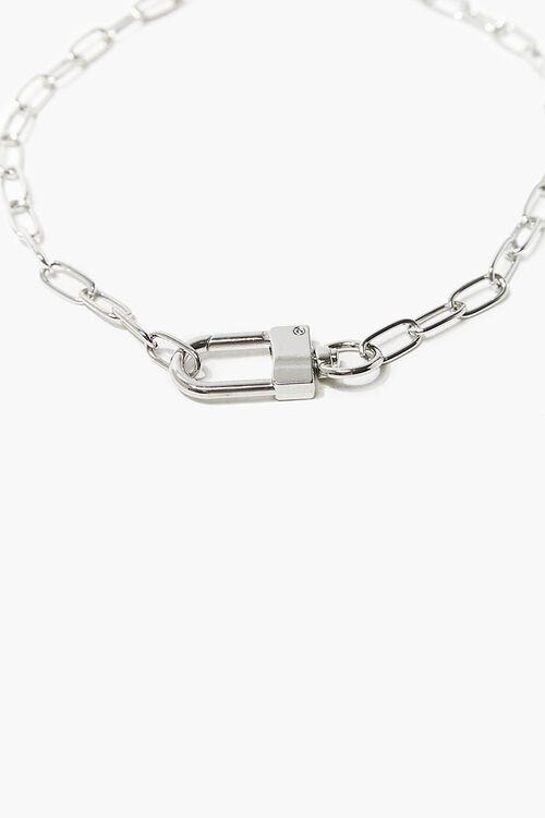 Lock Pendant Chain Necklace, image 1