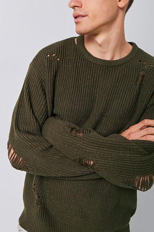 Distress Ribbed Knit Sweater, image 5