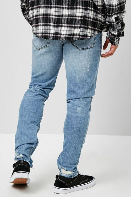 Distressed Ankle-Zip Skinny Jeans, image 3