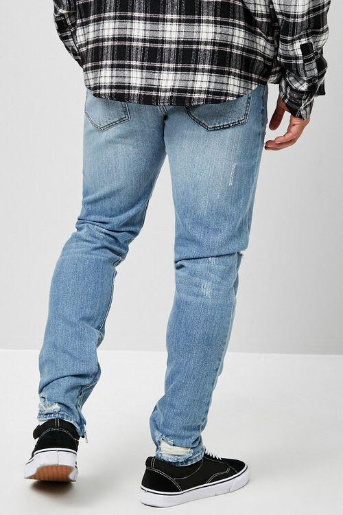 Distressed Ankle-Zip Skinny Jeans, image 3