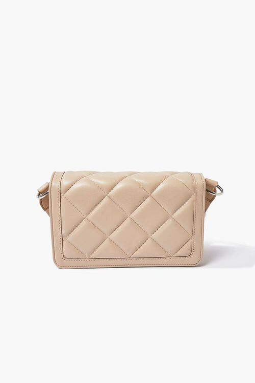Quilted Grosgrain-Strap Crossbody Bag, image 1